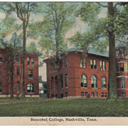 Boscobel College Vintage Nashville Tennessee TN Postcard