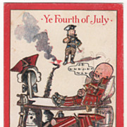 Artist Signed C Bunnell Washington and Lord Howe Vintage July Fourth Postcard