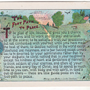 SOLD Artist Signed A T Cook The Road to Peace - Henry Van Dyke Vintage Postcard