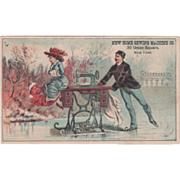 SOLD New Home Sewing Machine Co New York City NY New York Vintage Trade Card - Red Tag Sale It
