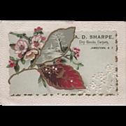 A D Sharpe Dry Goods & Carpets 203 Main St Jamestown NY Vintage Trade Card