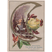 A D Sharpe Dry Goods and Carpets 203 Main St Jamestown NY Vintage Trade Card