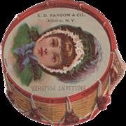 Brilliant Polishes E D Ransom & Co Albany NY New York Vintage Trade Card