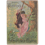Austen's Forest Flower Cologne Burrows & Miller Andover NY Vintage Trade Card