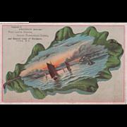 Pettitt Bros' Fine Lamps Stoves General Hardware Cuba NY Vintage Trade Card