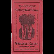 Riverside Celery Gardens Wholesale Celery Kalamazoo Vintage Advertising Brochure
