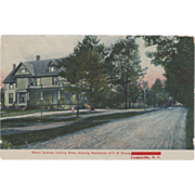 Maple Ave West F W Bunce Residence Lyndonville NY New York Vintage Postcard