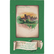 SOLD Signed Clapsaddle Killkenney Castle at Sunset St Patrick's Day Postcard