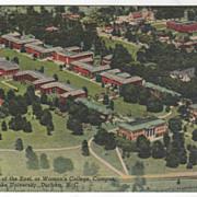 East Campus Duke University Durham NC North Carolina Vintage Postcard