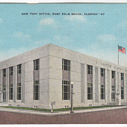 New Post Office West Palm Beach FL Florida Vintage Postcard