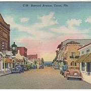 Brevard Avenue Cocoa FL Florida Vintage Postcard