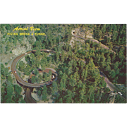 Pigtail Bridge and Tunnel Black Hills SD South Dakota Vintage Postcard