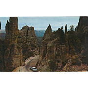 Needles Highway Black Hills SD South Dakota Vintage Postcard