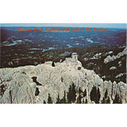 Harney Peak Black Hills SD South Dakota Vintage Postcard
