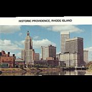 Historic Providence RI Rhode Island Vintage Postcard