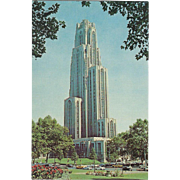 Cathedral of Learning Pittsburgh PA Pennsylvania Vintage Postcard