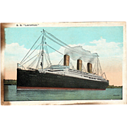 S S Leviathan Made in Germany Launched 1913 Vintage Postcard