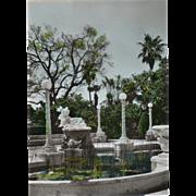 SOLD RPPC Fish Pond Main Terrace Hearst Castle San Simeon CA Vintage Postcard