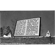 RPPC New Testament - Fields of the Woods Murphy NC Vintage Postcard
