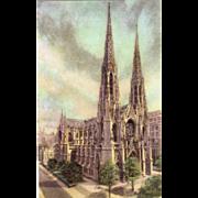 Saint Patrick's Cathedral New York City NY New York Vintage Postcard