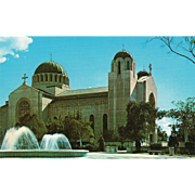 SOLD Saint Sophia Greek Orthodox Cathedral Los Angeles CA California Vintage Postcard