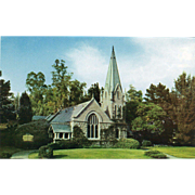 Little Church of Flowers Forest Lawn Memorial-Park Glendale CA Vintage Postcard