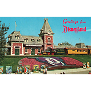SOLD Greetings from Disneyland Anaheim CA California Vintage Postcard
