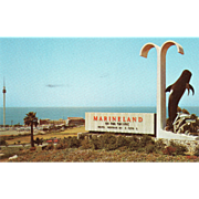 SOLD An Entrance Marineland of the Pacific Los Angeles CA California Vintage Postcard