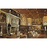 SOLD The Assembly Room Hearst Estate San Simeon CA California Vintage Postcard
