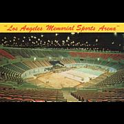 Los Angeles Memorial Sports Arena Los Angeles CA California Vintage Postcard