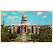 Colorado State Capitol Denver CO Colorado Vintage Postcard