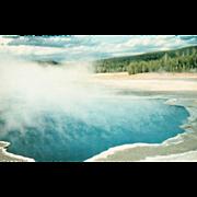 Gentian Pool Lower Geyser Yellowstone National Park WY Wyoming Vintage Postcard