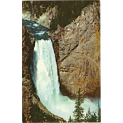 Lower Falls Yellowstone Yellowstone National Park WY Wyoming Vintage Postcard