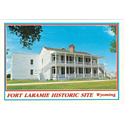 Old Bedlam Fort Laramie Historic Site WY Wyoming Vintage Postcard
