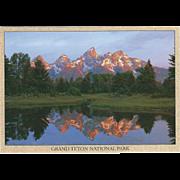 The Grand Teton Grand Teton National Park WY Wyoming Vintage Postcard