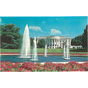 The White House Our President's Home Washington DC Vintage Postcard