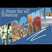 A State for All Seasons VA Virginia Vintage Postcard