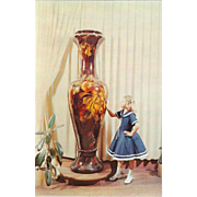 World's Largest Vase Valley Pottery New Market Virginia Vintage Postcard