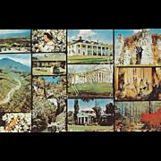 Twelve Views Greetings from VA Virginia Vintage Postcard