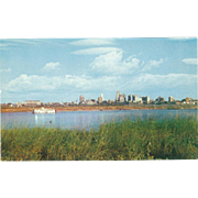 Skyline of Memphis TN Tennessee Vintage Postcard