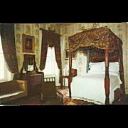 Jackson's Bedroom The Hermitage Nashville TN Tennessee Vintage Postcard