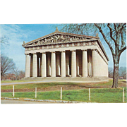 The Parthenon Centennial Park Nashville TN Tennessee Vintage Postcard