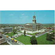 The State Capitol Nashville TN Tennessee Vintage Postcard