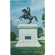 General A Jackson's Statue Capitol Hill Nashville TN Tennessee Vintage Postcard