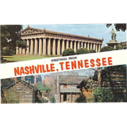 Two Scenes Greetings from Nashville TN Tennessee Vintage Postcard