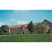 Morgan Hall University of Tennessee Knoxville TN Tennessee Vintage Postcard