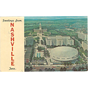 State Capitol and Office Greetings from Nashville TN Tennessee Vintage Postcard