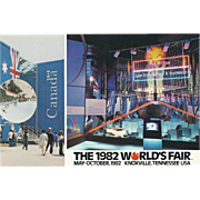 1982 World's Fair Knoxville TN Tennessee Vintage Postcard