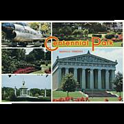 Five Views Centennial Park Nashville TN Tennessee Vintage Postcard
