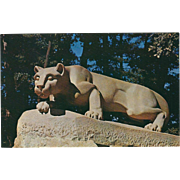 Lion Shrine PSU State College PA Pennsylvania Vintage Postcard